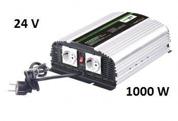 Měnič napětí Carspa CPS1000-242 24V/230V 1000W, čistá sinus, s nabíječkou 24V/5A a funkcí UPS
