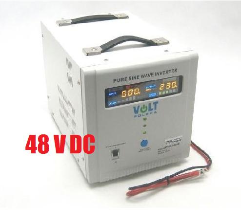 2100W/ 230V záložní zdroj sinusový, pro aku 48V, (přenosný/ na plochu) ZZ30 Připojení baterie: výchozí - oko na kabelu