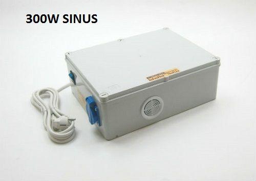 300W/ 230V kompletní záložní zdroj čistý sinus, včetně aku 24Ah, (na plochu) ZZ07