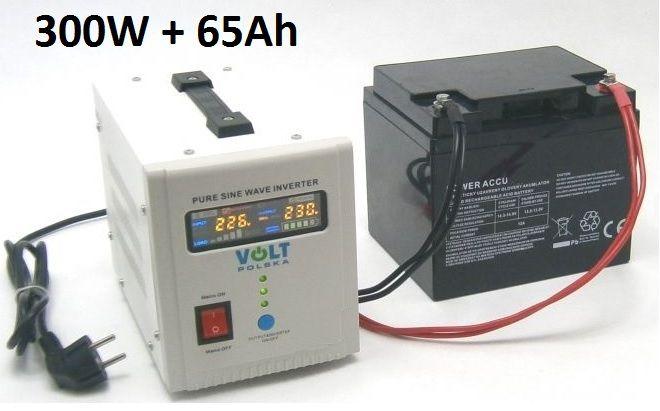 Záložní zdroj 300W sinus - ZZ20 + AKU 65Ah