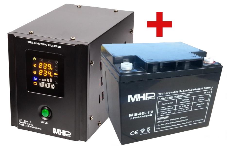 MH Power Záložní zdroj MHPower MPU-500 + AKU 40Ah