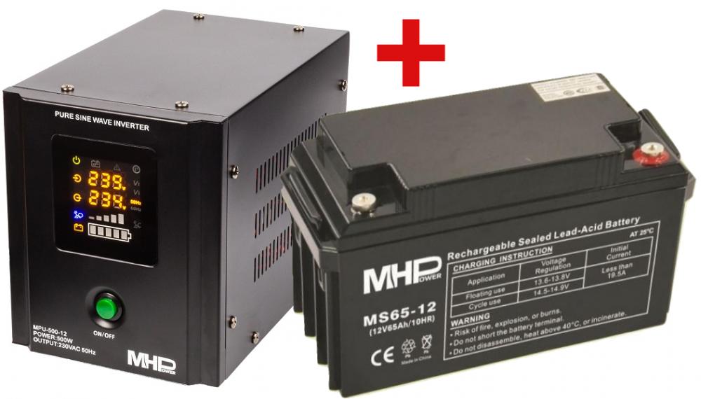 MH Power Záložní zdroj MHPower MPU-500 + AKU 65Ah