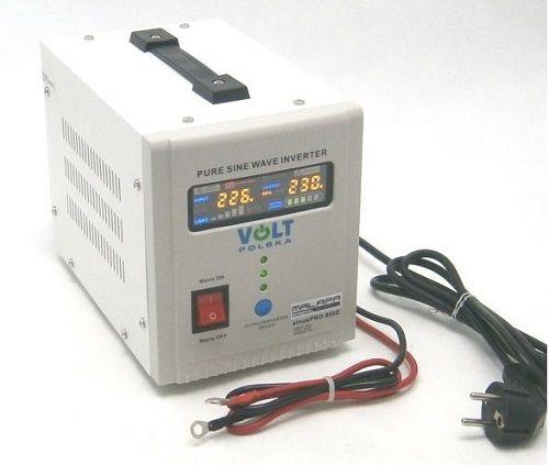 Volt 500W sinusPRO800E, čistý sinus Připojení baterie: výchozí - oko na kabelu