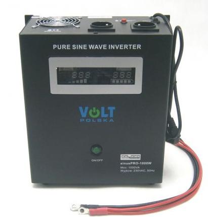 700W/ 230V záložní zdroj sinusový, pro aku 12V, (na plochu/ na zeď) Připojení baterie: výchozí - oko na kabelu