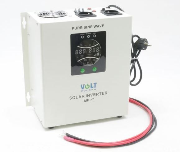 VOLT Záložní zdroj 700W sinus - ZZ55 SOLAR, UPS, 700W, čistý sinus, 12V Připojení baterie: příslušenství - svorky pro startovací AKU