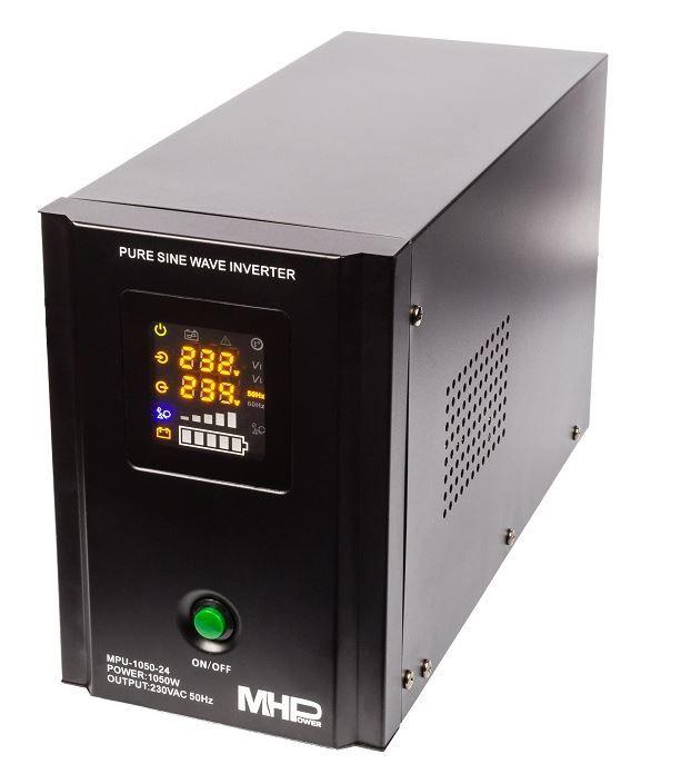 Záložní zdroj MHPower MPU-1050-12, UPS, 1500W, čistý sinus, 24V
