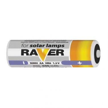 AA nabíjecí baterie RAVER solar 600 mAh