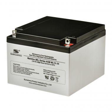 AGM akumulátor 12V/26Ah Sunstone Power ML12-26