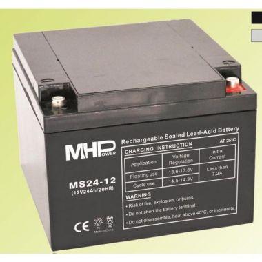 Pb akumulátor MHPower VRLA AGM 12V/24Ah (MS24-12), Terminál T1 - M6