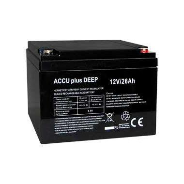 Akumulátor 12V / 26Ah - ACCU plus DEEP - bezúdržbový olověný