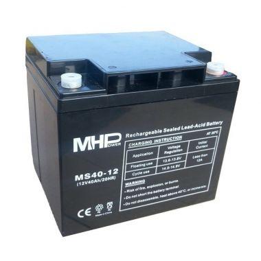 Pb akumulátor MHPower VRLA AGM 12V/40Ah (MS40-12), Terminál T1 - M6