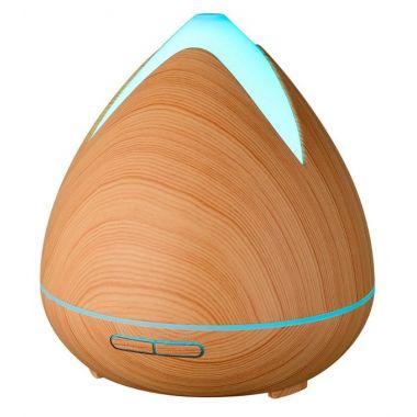 Aroma difuzér HD-02, světlé dřevo - ultrazvukový, 7 barev LED