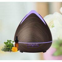 Aroma difuzér HD-02, tmavé dřevo - ultrazvukový, 7 barev LED