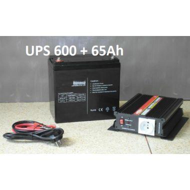 CarSpa UPS600 + AKU 65Ah