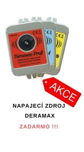 Plašiče DERAMAX + napájecí zdroj zdarma