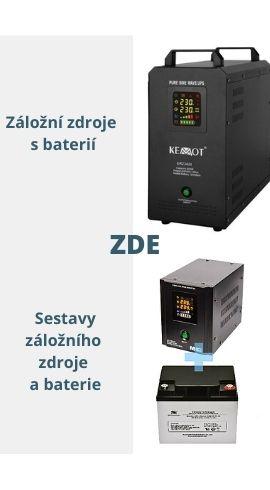 Záložní zdroje s baterií