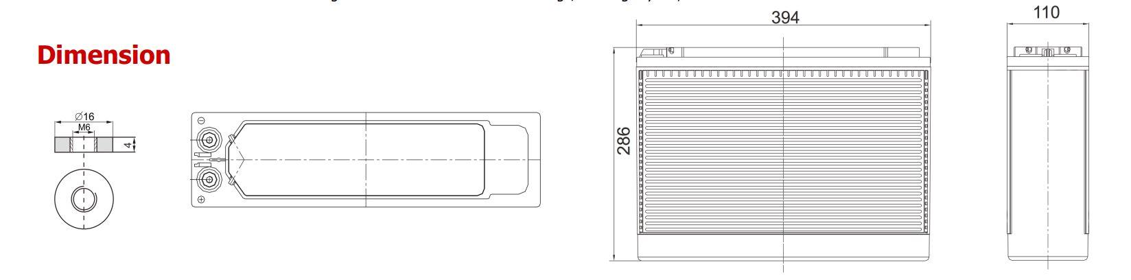 Baleni baterie Sunstone Power 100Ah pro přepravu