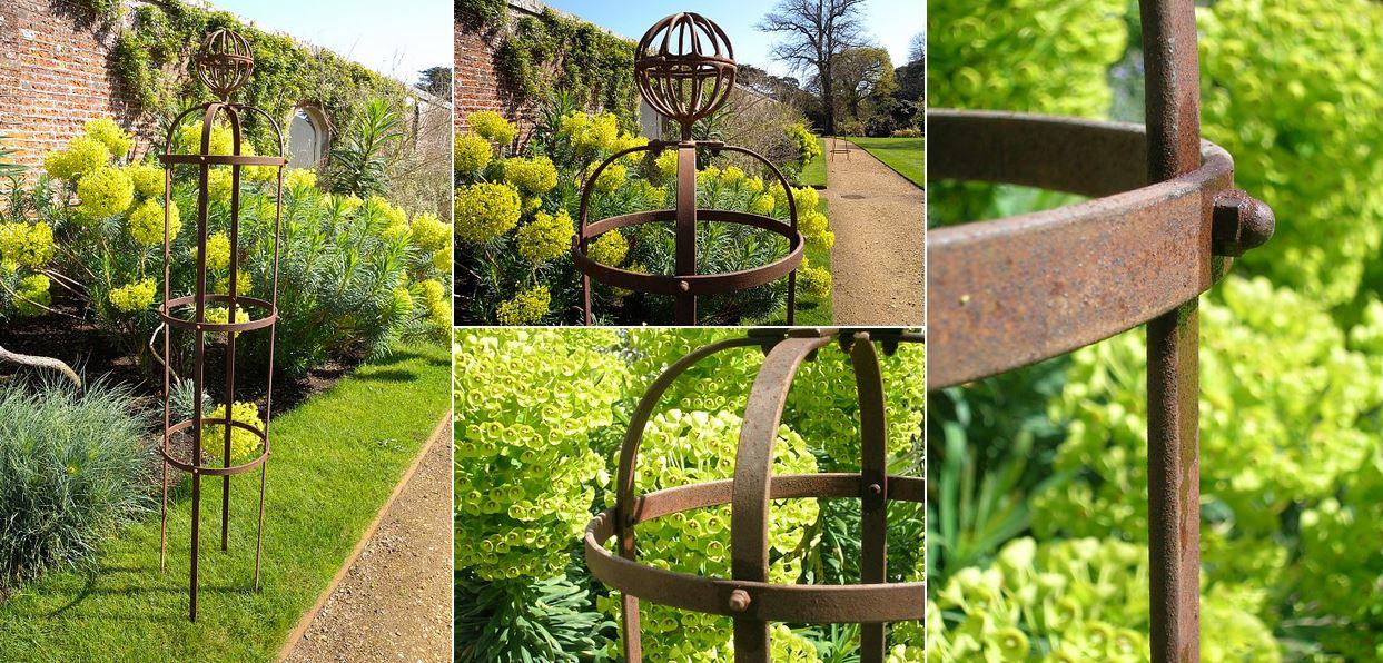 Opěry rostlin - obelisky, ploty