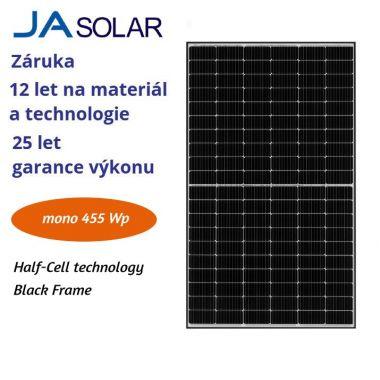 FV panel 455W JA solar JAM72S20 BLACK FRAME