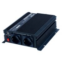 Měnič napětí Carspa CAR1KU-122 12V/230V+USB 1000W, modifikovaná sinus