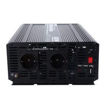 Měnič napětí Carspa CAR5KU-24 24V/230V+USB 5000W, modifikovaná sinus