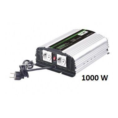 Měnič napětí Carspa CPS1000-122 12V/230V 1000W, čistá sinus, s nabíječkou 12V/10A a funkcí UPS