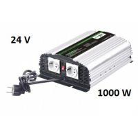 Měnič napětí CarSpa CPS1000 24V/230V, 1000W, nabíječka 5A