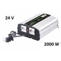 Měnič napětí CarSpa CPS2000 24V/230V, 2000W, nabíječka 8A