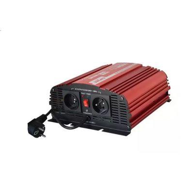 Měnič napětí Carspa CPS600-122 12V/230V 600W, čistá sinus, s nabíječkou 12V/10A a funkcí UPS