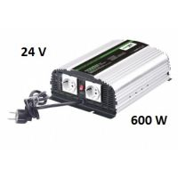 Měnič napětí CarSpa CPS600 24V/230V, 600W, nabíječka 5A