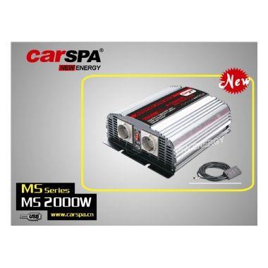Měnič napětí CarSpa MSD2000 12V/230V, 2000W, USB, dálkové ovládání