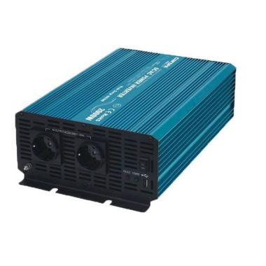 Měnič napětí Carspa P2000U-24, 24V/230V+USB, 2000W, čistá sinusovka