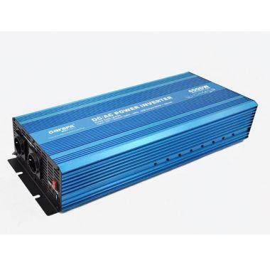Měnič napětí Carspa P4000UR-122, 12V/230V+USB, 4000W, čistá sinusovka
