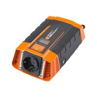 Měnič napětí Carspa PID400-12 12V/230V+USB 400W, modifikovaná sinus, digitální display, vhodný do auta