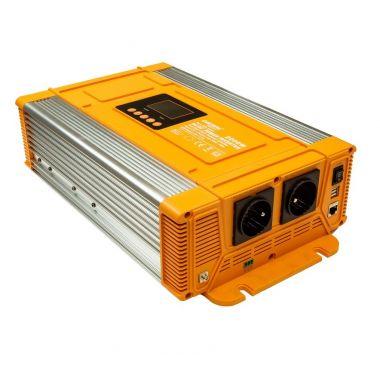 Měnič napětí Carspa PX2000-12, 12V/230V+USB 2000W čistá sinusovka