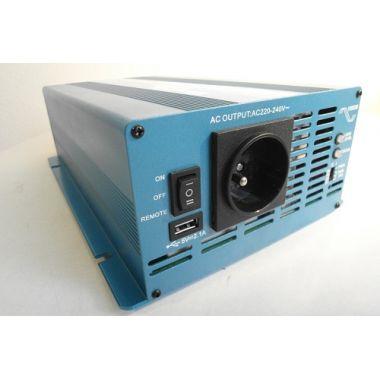 Měnič napětí Carspa SKD2000UR-242, 24V/230V+USB 2000W, čistá sinus, display, dálkové ovládání