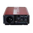Měnič napětí Carspa UPS600-12 12V/230V 600W s nabíječkou 12V/10A a funkcí UPS