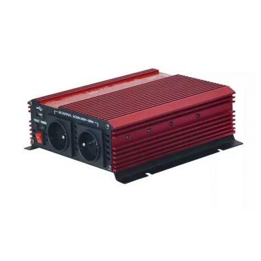 Měnič napětí GPI 1012, 12V/230V+USB 1000W - náhrada Carspa CAR1KU-12, 1000W
