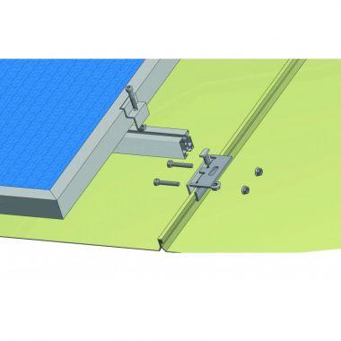 Nosná konstrukce FV panelu – šikmá střecha – falcovaný plech