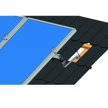 Nosná konstrukce FV panelu – šikmá střecha – taška bobrovka