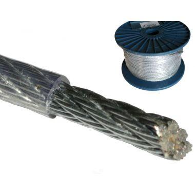 Ocelové lanko potažené PVC, 3mm