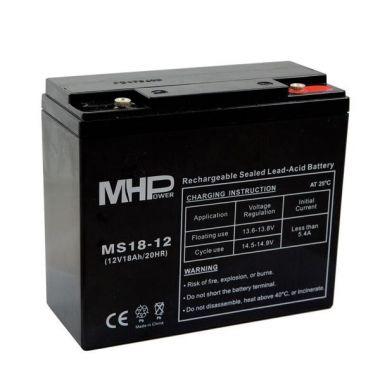 Pb akumulátor MHPower VRLA AGM 12V/18Ah (MS18-12), Terminál T1 - M6