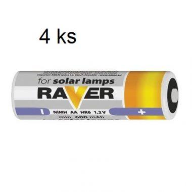 Sada baterií pro solární odpuzovače - 4ks AA