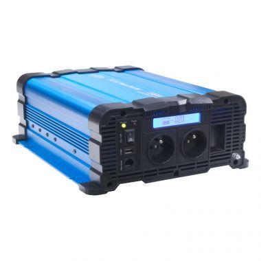 Sinusový měnič napětí 35psw1512DD, 12/230V, 1500W, displej