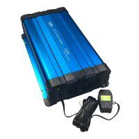 Sinusový měnič napětí 35psw2512DR, 12/230V, 2500W, dálkové ovládání s displejem