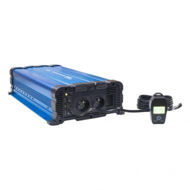Sinusový měnič napětí z 12/230V, 4000W / dálkové ovládání s displejem