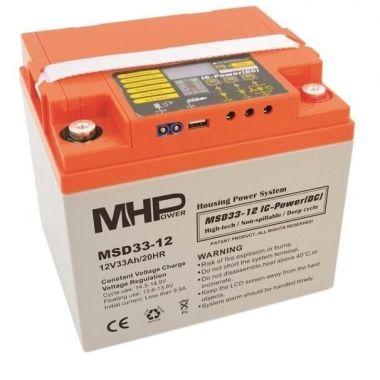SMART akumulátor 12V/33Ah MHPower MSD33-12