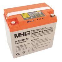 SMART akumulátor 12V/55Ah MHPower MSD55-12