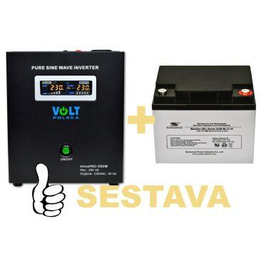 Záložní zdroj 300W, sinusPRO-500W + AKU 40Ah