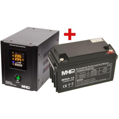 Záložní zdroj MHPower MPU-500 + AKU 65Ah